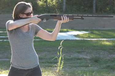hunter recruitment-woman-shooting-gun