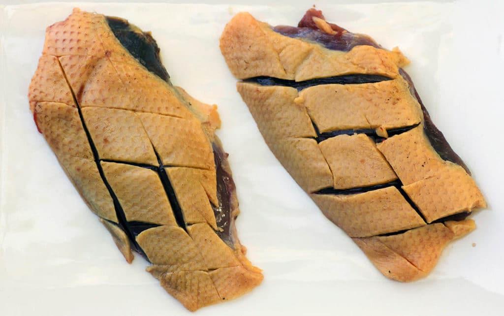 Scoring the Skin of Duck Breast - Jamie Carlson - Modern Carnivore