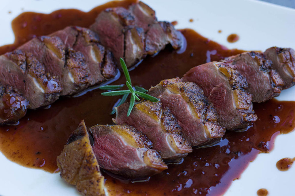 Seared Duck Breast With Highbush Cranberry Sauce Jamie Carlson Modern Carnivore