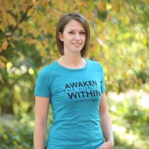 Awaken The Hunter Within T-shirt Women's Teal