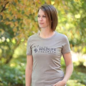 Live The Wildlife Women's T-shirt-Stone Gray
