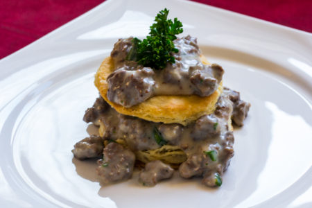 Duck-sausage-biscuits-and-gravy