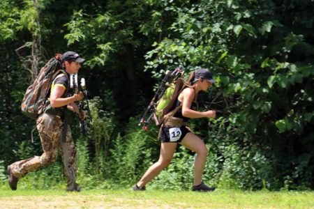 Women competing in the Train To Hunt challenge