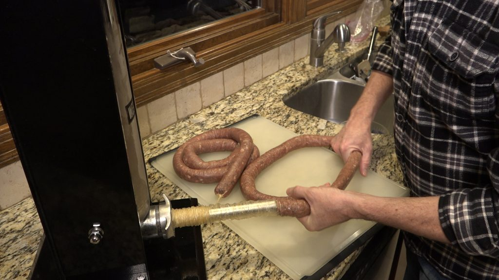 Making-wild-rice-venison-bratwurst-Modern-Carnivore