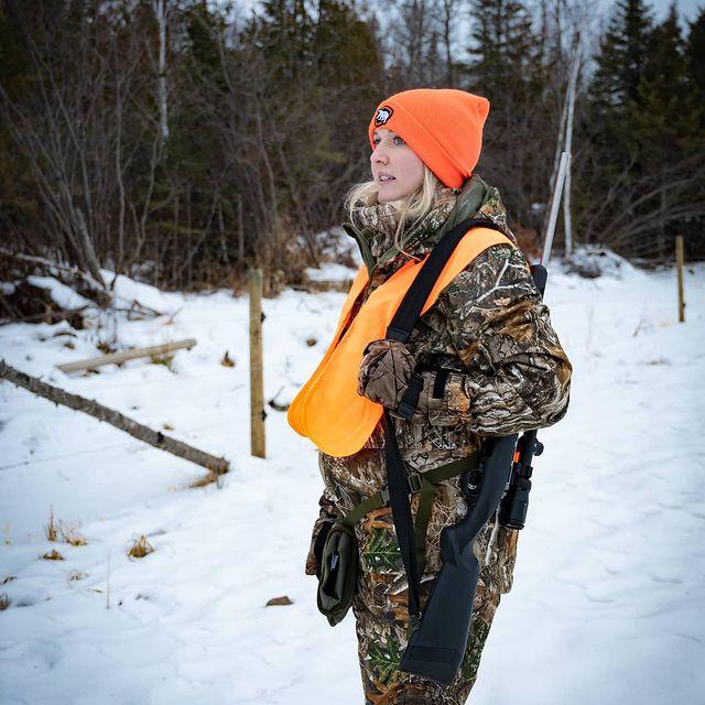 Ali Juten hunting in the north woods of Minnesota